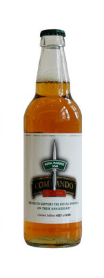 Cotleigh Commando Beer; only 6000 numbered bottles available. 10p per bottle will be donated to the charity Go Commando