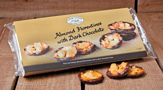 Cottage Delight Hazelnut Milk Chocolate Florentines