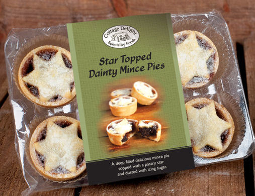 Cottage Delights Star Topped Mince Pies