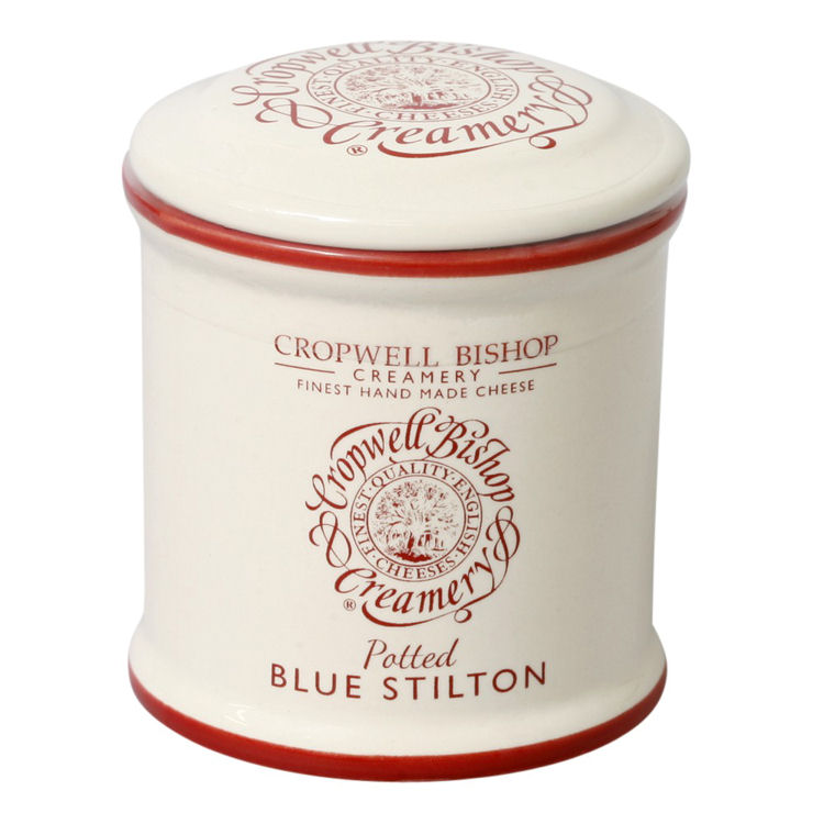 Empty Cropwell Bishop Blue Stilton Ceramic Jar 100g
