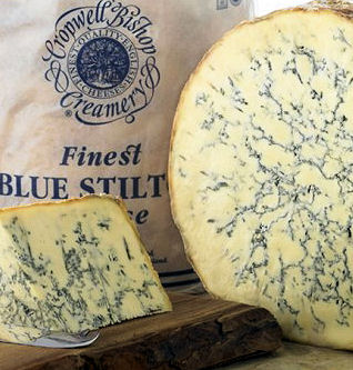 2 kg Cropwell Bishop Organic Blue Stilton 1/4 Cheese (image 1)