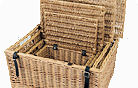 Wicker Hampers and Trays