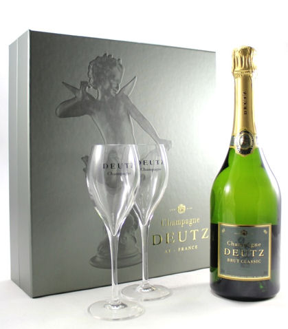 Deutz Champagne and Two Glasses Set 75cl