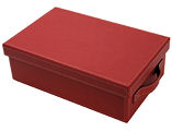 Small Faux Leather Red Hamper Giftbox