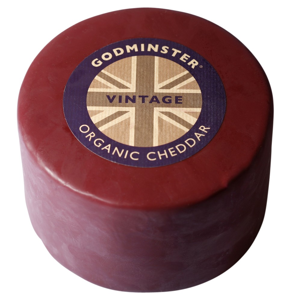 Godminster Organic Vintage Cheddar 2kg Whole Truckle