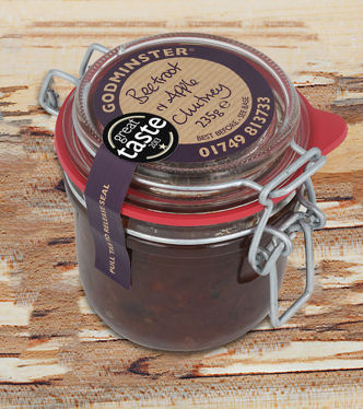 Godminster Beetroot Apple Chutney 200g