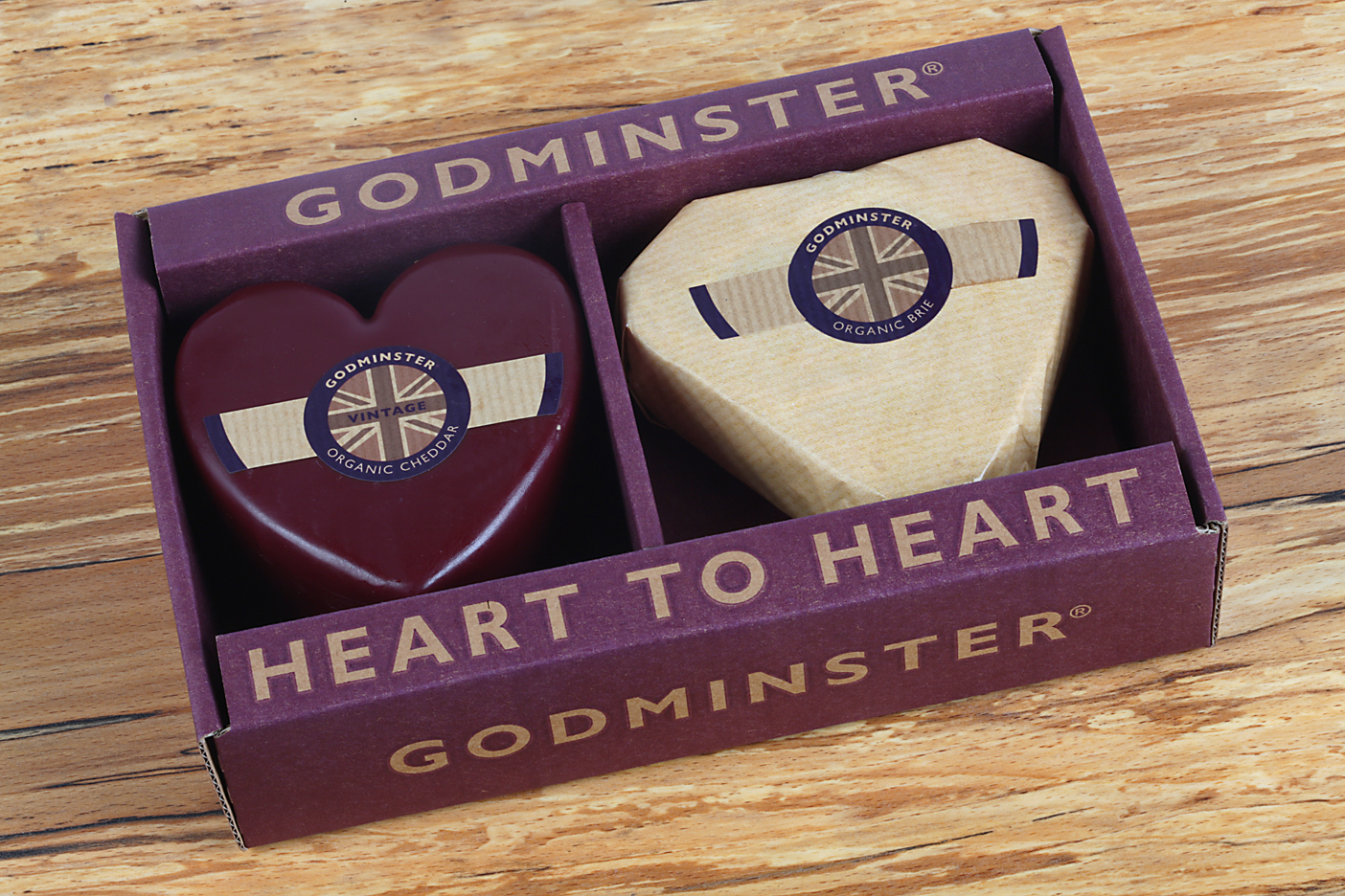 Godminster Heart Cheeses Giftbox