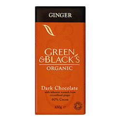 Green & Blacks Dark Chocolate With Ginger 100g (image 1)