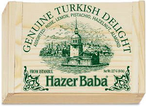 Hazer Baba Assorted Turkish Delight 227G Cigar Box