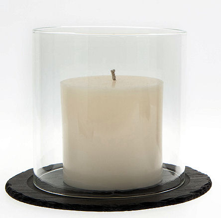 Just Slate Pillar Candle 10cm (image 1)