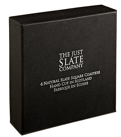 Just Slate Coasters 11cm 4PC (image 2)