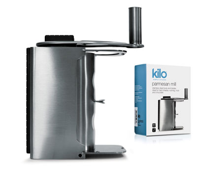 Kilo Parmesan Mill; All stainless steel. Ideal for Cheese, Chocolate etc