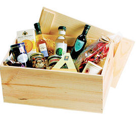 Large Wooden Hamper Box; with additional items to Pack (Not included)