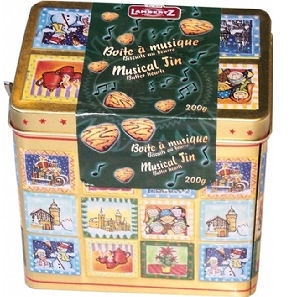 Lambertz Musical Tin of Butter Biscuits 200g (image 1)