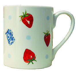 Sophie Allport Large Mug - Strawberries in Cream (image 1)