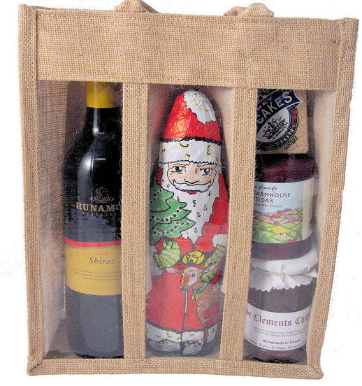 Christmas Redwine Cheese Giftbag