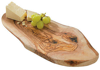 Rustic Olivewood Cheeseboard - Cheese for illustration only. To add a cheese selection, click here!