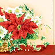 Ambiente 25 cm Serviete Christmas Flowers