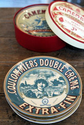 Bia Camembert Plates set of 4pc