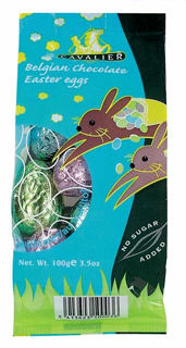 Cavalier Belgian Chocolate Easter Eggs No Added Sugar 100g (image 1)