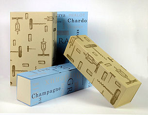 Collapsable 1 Bottle Box Beige (image 1)