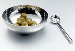 Define Hammered Stainless Steel Bowl And Spoon (image 1)