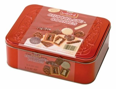 Lambertz Chocolate Cookies 1kg Tin