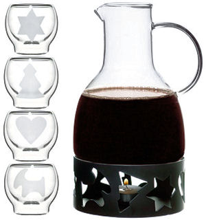 Sagaform Mulled Wine Warmer With Glasses