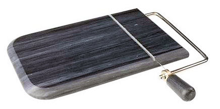 TG Cheeseboard With Wire Cutter In Black Marble (image 1)