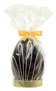 Van Roy Bitter Chocolate Easter Egg In Leaves Design 160g (image 1)