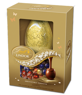 Lindt Easter Egg with Lindor Assorted Mini Eggs 215g (image 1)