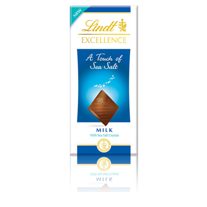 Lindt Excellence Milk With a Touch of Sea Salt 100g (image 1)