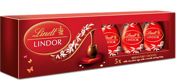 Lindt Lindor Eggs 90g 5pc (image 1)