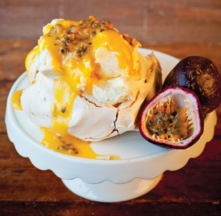 Mini Pavlovas with Cottage Delight Passion Fruit & Mango Curd