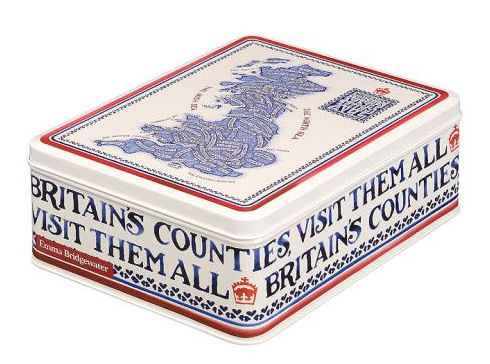 Emma Bridgwater British Counties Tin of Moores Biscuits 400g