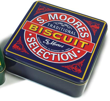 Moores Biscuits in Classic Tin 400g