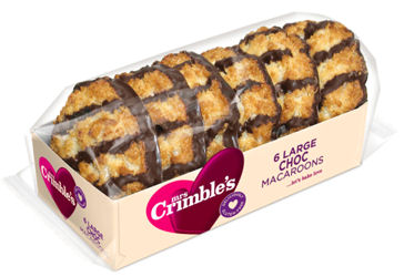 Mrs Crimbles Chocolate Macaroons 6pc 250g (image 1)