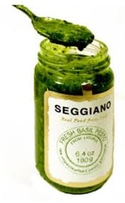 Seggiao Pesto 200g; Colour varies according to Basil; taste remains the same splendid explosion!