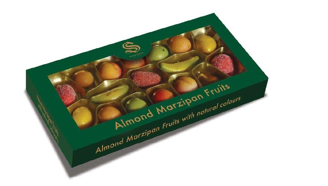 Shepcote Marzipan Fruits 190g; great gifts!