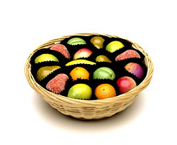 Shepcote Marzipan Fruits in Basket 200g