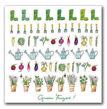 Sophie Allport Greeting Card - Green Fingers! (image 1)