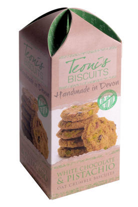 Teonis White Chocolate & Pistachio Oat Crumble Biscuits