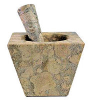 Large Mortar & Pestle In Fossil