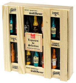 Abtey Chocolate Liqueur Selection Wooden Box 180g 14pc
