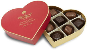 Charbonnel Walker Heart Box of Milk and Dark Chocolates 100g