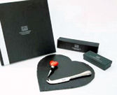 Just Slate Heart Shaped Cheeseboard Giftset