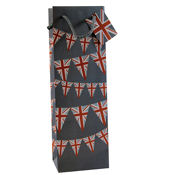 1 Bottle Wine Bag Union Jack Bunting