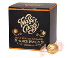 Willies Cacao Apple Brandy Caramel Black Pearls 150g