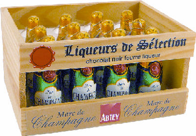 Abtey Marc de Champagne Chocolates in Crate