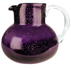 Artland Iris Pitcher In Plum Glass